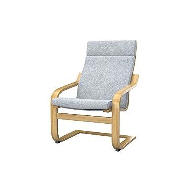 Soferia - IKEA POÄNG chair cover, Naturel Light Grey