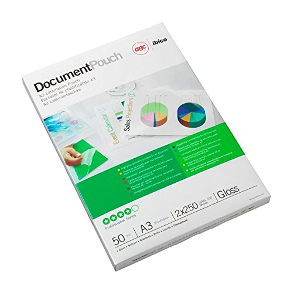 GBC A3 2X38mic Document Laminating Pouches - Gloss