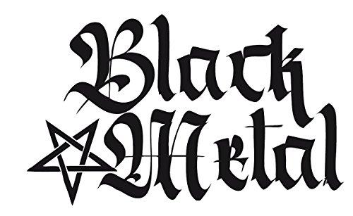 Black Metal Pentagramm (hoch) Autoaufkleber, 14cm   verschiedene Farben   Black Metal Autoaufkleber für Lack oder Heckscheibe (weiß)