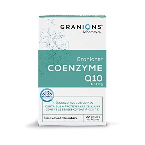 GRANIONS Coenzyme Q10 - 30 Gélules Végétales = 30 Jours - Coenzyme Q10, Magnésium, Cuivre - Antioxydant - Beauté de La Peau - Laboratoire des Granions - Marque Française