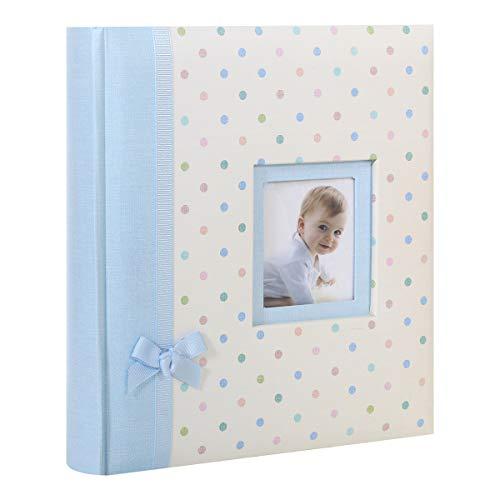 Album Photo Naissance à pochettes KARA Bleu pour 200 photos 11x16 cm (BLEU A POIS)