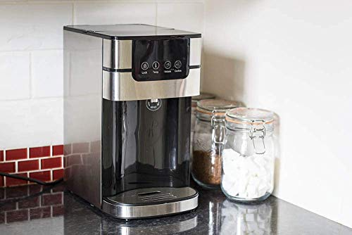 Jack Stonehouse 4L Compact Instant Hot Dispenser with Adjustable Temperature and Water Volume, Stainless Steel