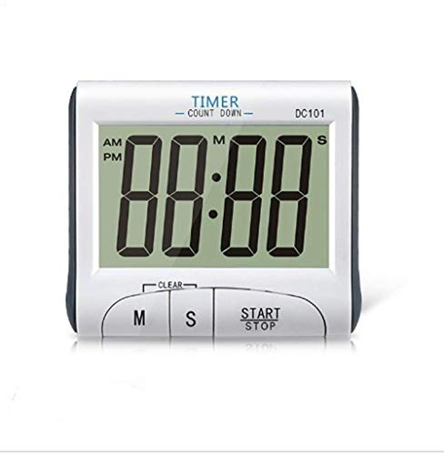 Best Mini Portable Large Digital LCD Display Clock Loud Alarm Cooking Kitchen Timer Sport Stopwatches Magnetic with Stand -Battery Included