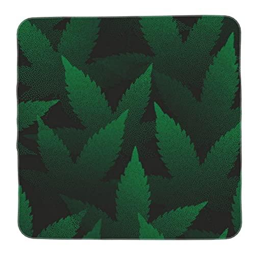 Mantas de recepción de algodón unisex para bebé, hojas de marihuana, puntillismo, arte verde, grande, personalizable, para niños y niñas en suave