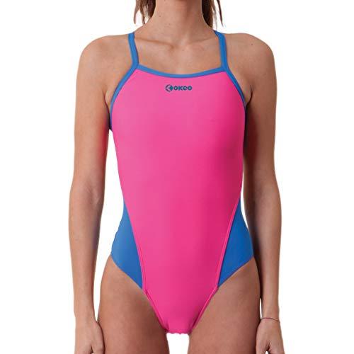 Okeo - Costume Nuoto Donna - Trinatria - tg 48 - Rosa
