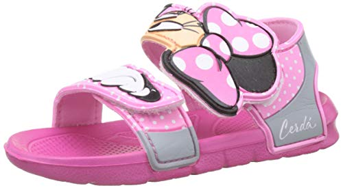 Minnie Mouse S0706691, Flat Sandal Unisex-Child, Rosa