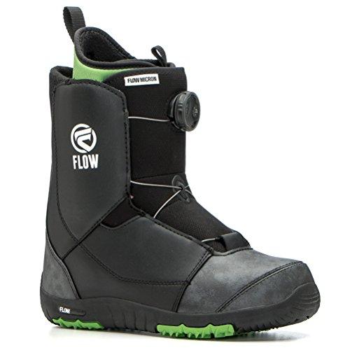 Flow Micron Boa 2017–Stivali da Snowboard Youth Snowboard, per Bambini Boots, Black, 7