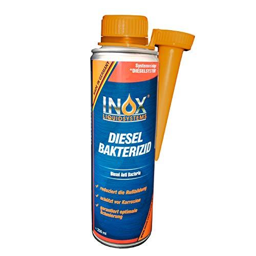 INOX® Diesel Bakterizid, 250ml - Desinfección de aditivos para Sistemas de gasóleo, automóviles y gasóleo de calefacción
