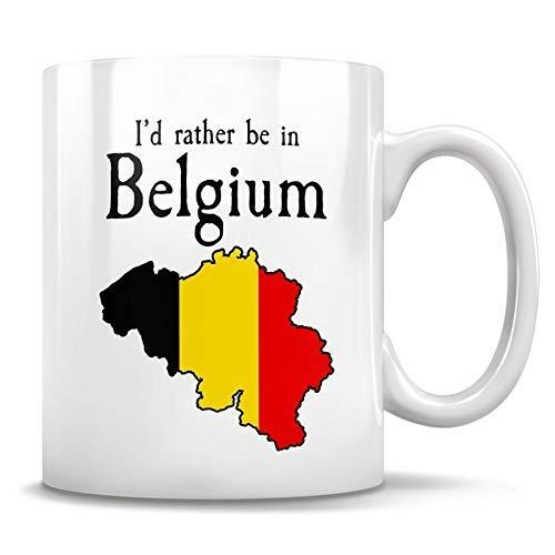 NA Regalo de Bélgica, Taza de Bélgica, Bruselas Bélgica, Mapa de Bruselas, Mapa de Bélgica, Orgullo de Bélgica, Bandera de Bélgica, Belga, 11 oz
