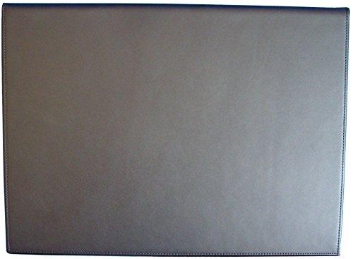 Vade escritorio sobremesa español de PIEL de ternera, doble. 47x34 cm (Negro)