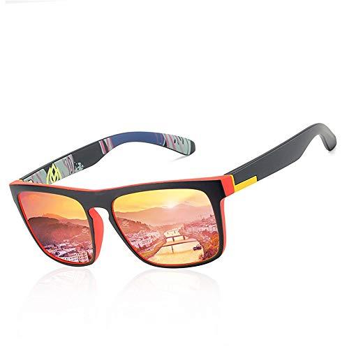 LASTARTS Gafas de sol deportivas coloridas para hombres, gafas de sol polarizadas, gafas de sol elásticas. (Color : A)