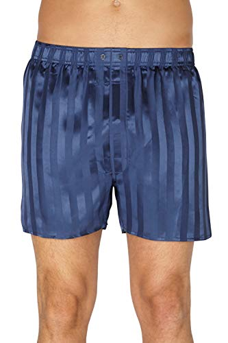 Intimo Luxe Striped Silk Boxer (WM15311) S/Navy