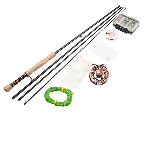 Fly Rod Combo Honor 8' 9' 10' 2.4M 2.7M 3.0M Fly Fishing Rod Full Metal Fly Reel Lure Box River Fishing Tackle,3.0M