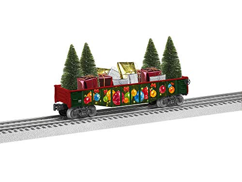 Lionel ionel Angela Trotta Thomas, Electric O Gauge Model Train Accessories, Gondola Car with Presents and Trees