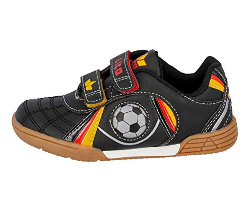 Lico Nikos V Unisex Kinder Multisport Indoor Schuhe, Schwarz/ Rot/ Gold, 31 EU