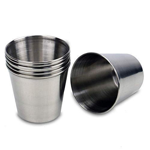 Timoo 6 PCS 15 Ounce Stainless Steel Shot Cups Shot Glass Drinking Vessel
