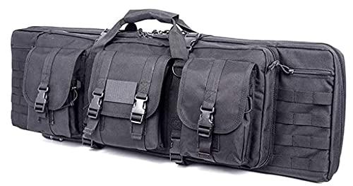 Double Rifle Bag Case, Gewehrfutteral Langwaffen, Double Rifle Bag Aufbewahrung Einzelner Gewehre, 600D Oxford Stoff, Wasserdichtem Stoff, Tragbare Waffentasche Zum Angeln, Jagen, Schießsport 120cm