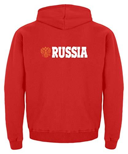 generisch Russia Russland - Kinder Hoodie -5/6 (110/116)-Feuerrot