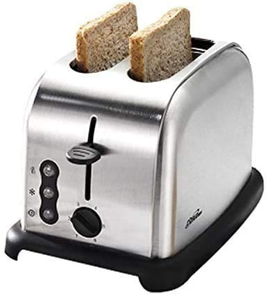 CattleBie Breadmakers, 2 Slice Slot Toaster, 6 Levels Compact Stainless Steel Automatic Baking Bread Maker Machine Toaster with Wide Slots & Toast Boost