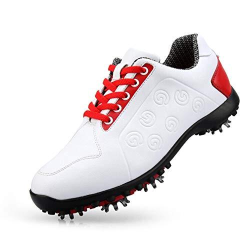 Frühling Sommer Damen Golfschuhe Damen wasserdichte atmungsaktive rutschfeste Turnschuhe Weiche Superfaser bewegliche Schuhnägel