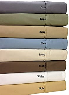 Royal Hotel 650-Thread-Count Bed Sheets - Wrinkle Free Sheets - Deep Pocket, Cotton Blend, Sateen Sheets, Hypoallergenic, 5 Piece - Split Cal-King : Adjustable California King Size - Gray