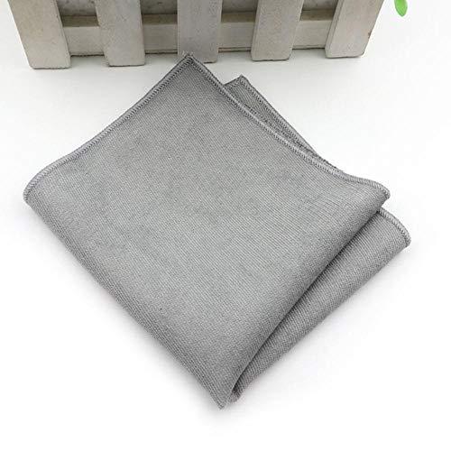 Boner effen zachte micro suède zakdoeken geweven wit roze rood blauw heren casual vierkante zakken zakdoek handdoeken, 10