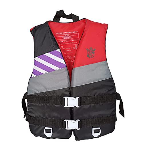 Chaleco de salvamento para niños adulto, portátil, para nadar, flotabilidad ajustable, ayuda a la flotabilidad para la natación, pesca, surf buceo Rafting para 45 kg, color rojo