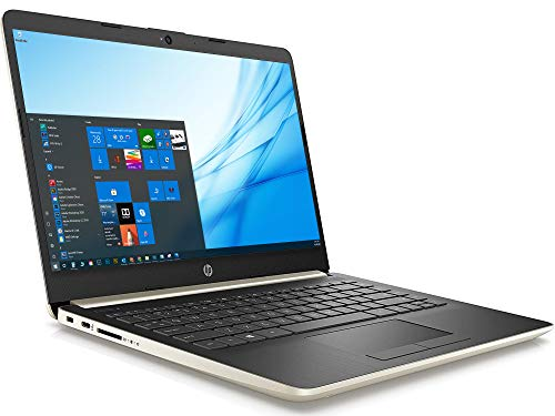 HP 14 (24V85UA) Laptop, 14' HD Display, Intel Celeron N4020 Upto 2.8GHz, 4GB RAM, 64GB eMMC, HDMI, Card Reader, Wi-Fi, Bluetooth, Windows 10 Home S - (Gold)
