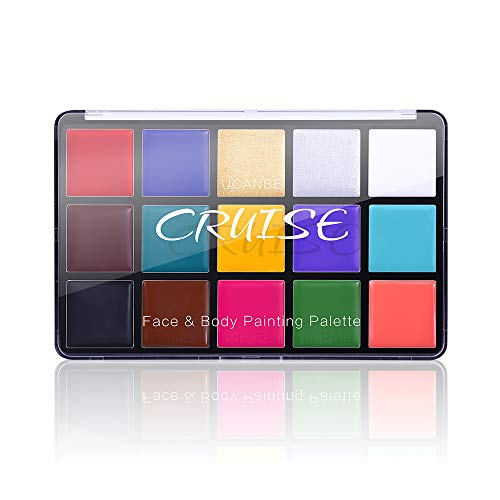 Amazon.com: Charmcode Face Body Paint Oil, Professional 15 Colors FX Makeup Palette- Non Toxic Hypoallergenic Safe Facepaints for Adults and Kids - Ideal for Halloween, Cosplay Costumes, Parties and F...