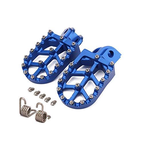 Motorradzubehör CNC Fuß Nagel Fuß Pedal Fußpedal Fußpedal Geeignet für Husqvarna TC TE FC FE FS 65 85 125 250 300 350 350S 450501501 (Color : Blue)