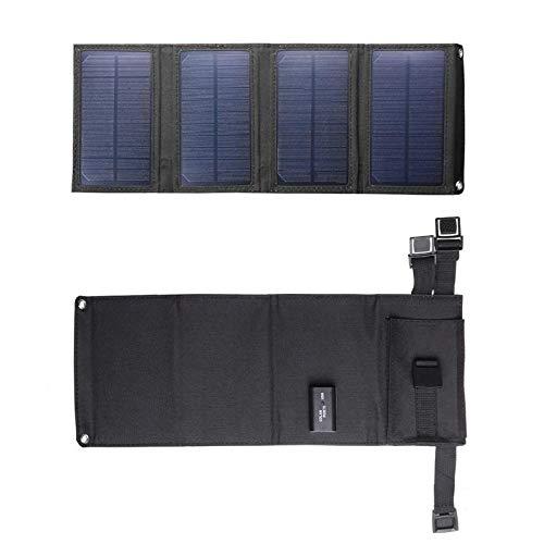 GNY Cargador Solar Puerto Solar Plegable de 20W Panel Solar 5v Power Power Power Power Power Port Port Port Bank Mobile Power Bank para teléfono (Color : Black)