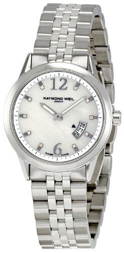 Raymond Weil Damen Freelancer Analog Armbanduhr 5670-ST-05985 mit Perlmutt-Zifferblatt