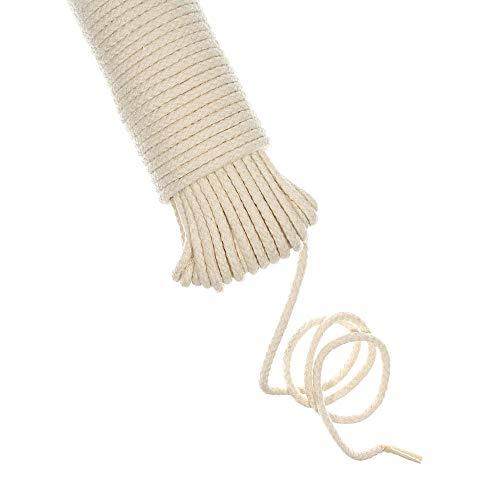 GOLBERG G All-Purpose Cotton Clothesline Rope - 100 Feet - 316 Inch Diameter