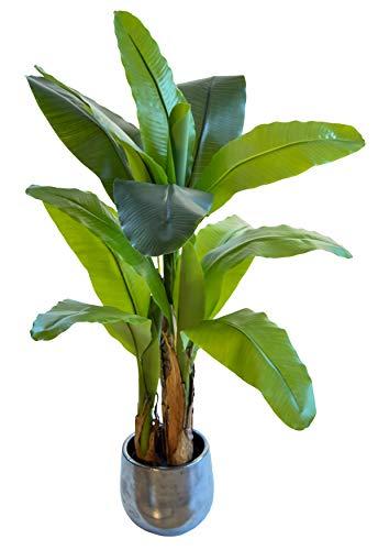 Maia Shop Banana Artificiale, Realizzata con i Migliori Materiali, Ideale per la Decorazione Domestica, pianta Artificiale (120 cm)