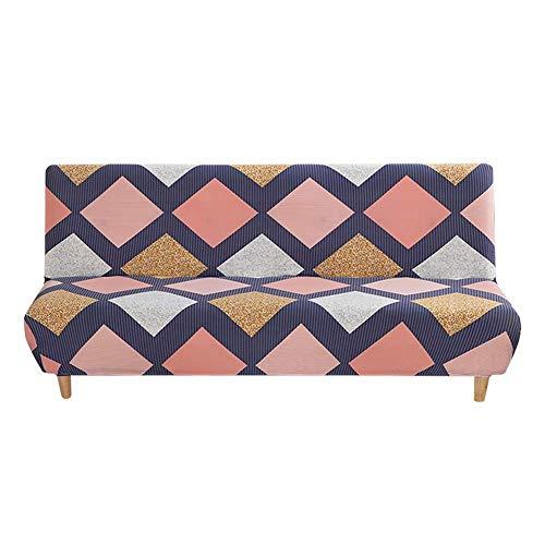 Funda de sofá sin Brazos Funda de futón elástica Funda de sofá Estampada de Tela elástica Fundas de sofá universales y Plegables para sofá Cama Funda Protectora