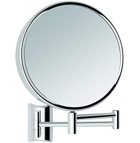 Libaro Kosmetikspiegel Imola 360° Schminkspiegel mit Wandmontage, Rasierspiegel doppelseitig mit Vergrößerung (Silber (3x/10x))
