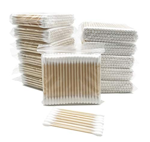 1200pcs Organic Wooden Stick Cotton Swab/Eco Friendly Biodegradable Cotton Bud with Wood Handles