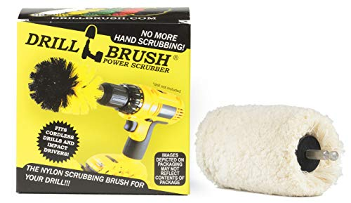 Drillbrush Power Taladro eléctrico de la rueda pulidora Buffer Cleaner blanco