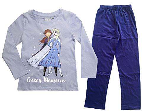 Global Brands Die Eiskönigin Schlafanzug Pyjama lila (116)