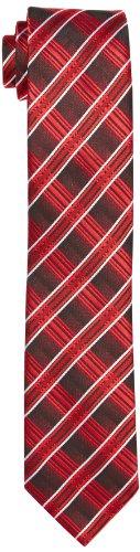 G.O.L. Jungen Krawatte, Diagonal-Check, Einfarbig, Gr. One size (HerstellergröÃYe: 2), Rot
