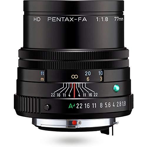 HD PENTAX-FA 77mmF1.8 Limited Black Limited Medium teleobiettivo obiettivo primario, rivestimento HD ad alte prestazioni, rivestimento SP, diaframma rotondo, corpo in alluminio lavorato