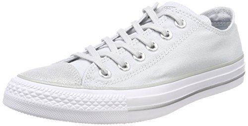 Converse Chucks Grau 559888C Chuck Taylor All Star OX Pure Platinum Silver White, Groesse:41 EU / 7.5 UK / 7.5 US / 26 cm