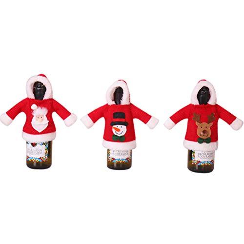 ifundom 2 Unids Navidad Lindo Abrigo de Botella Cubierta de Botella Personalidad...