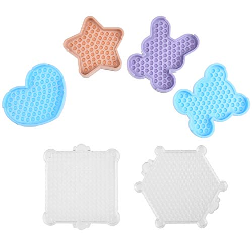 Kare & Kind Water Sticky Beads Pegboards - 7 pcs - Different Shapes and Colors - Kids, DIY, Arts, Craft, Indoor, Outdoor Activities