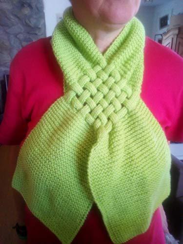 Von Hand raffiniert gestrickt, Schal aus Polyester, in Bändchengarn