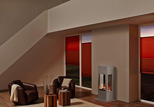 muenkel Design Prism Fire elektrische open haard Opti-Myst Warmte: roestvrij staal, geborsteld - met verwarming
