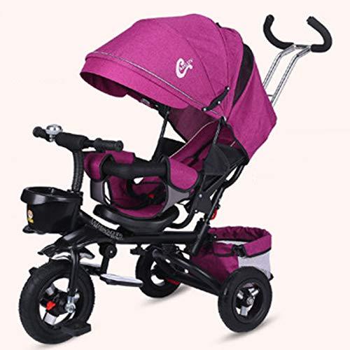 WSXM Faltbar Dreirad Kinderwagen Kompakt Kombikinderwagen Mit Liegefunktion Sportwagen Für Kinder Von 6 Monaten Bis 6 Jahren