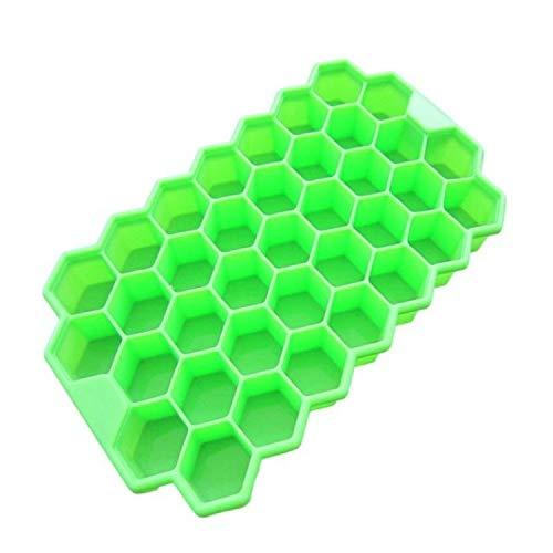 Levensmiddelvormen, 2 stuks, 37 roosters ijsblokjes met honingraatpatroon, ijsblokjesvorm voor zelfgemaakte ijsblokjes, yoghurt, ijsbox, accessoires voor de koelkast en vriezer.