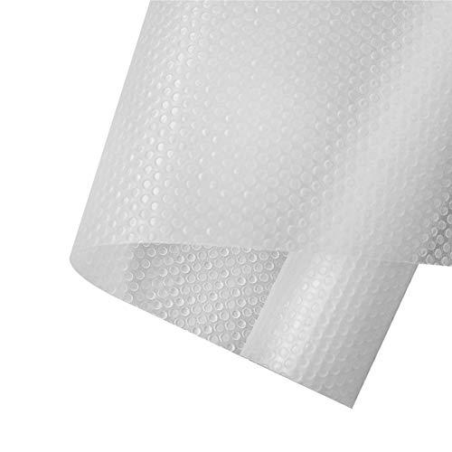 AWNIC Antideslizante Alfombra Cocina 3-Rolls Estantes Gabinete Estera Cuttable Impermeable Estera Del Refrigerador Forro De Cajón Reutilizable EVA Protector Antideslizante Blanco 45X150Cm