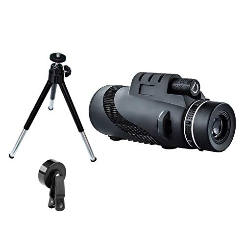 gazechimp Telescópio Monocular, 40x60 Lunetas de Alta Potência para o Smartphone,BAK4 Prisma HD Monocular Monoscope Menor Visão Noturna Binóculos À Prova - Opção 2
